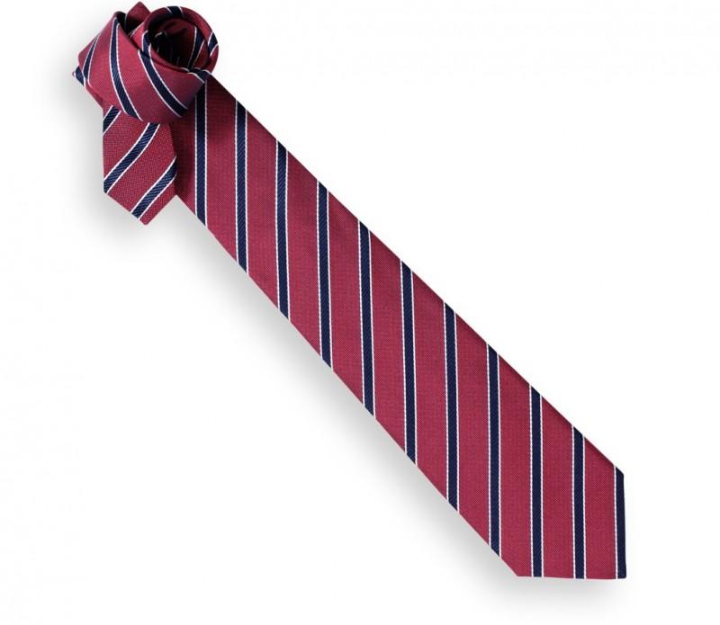 Rote Krawatte mit marineblauen Streifen - Memphis