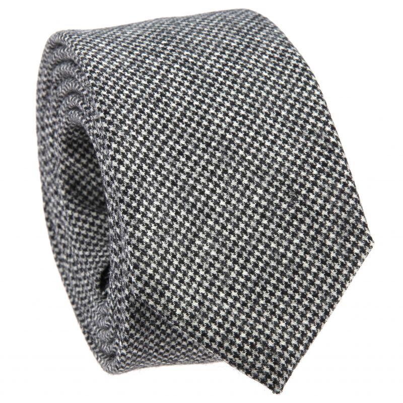 Graue Krawatte mit Hahnentrittmuster aus Wolle The Nines