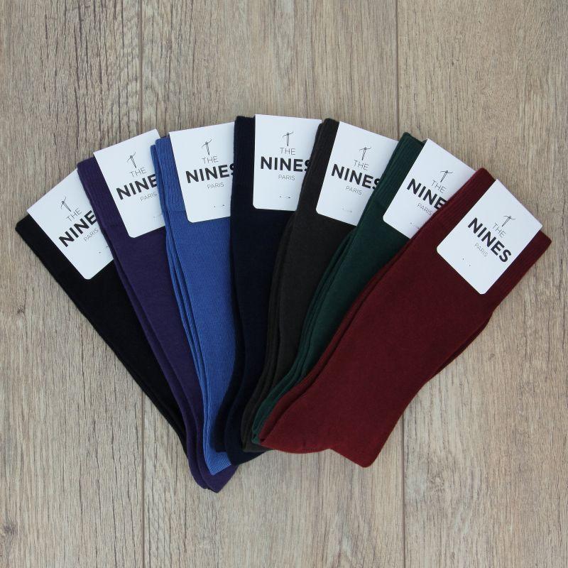 562c44be6a 7er Sockenpaar aus gekämmter Baumwolle, klassische Farben