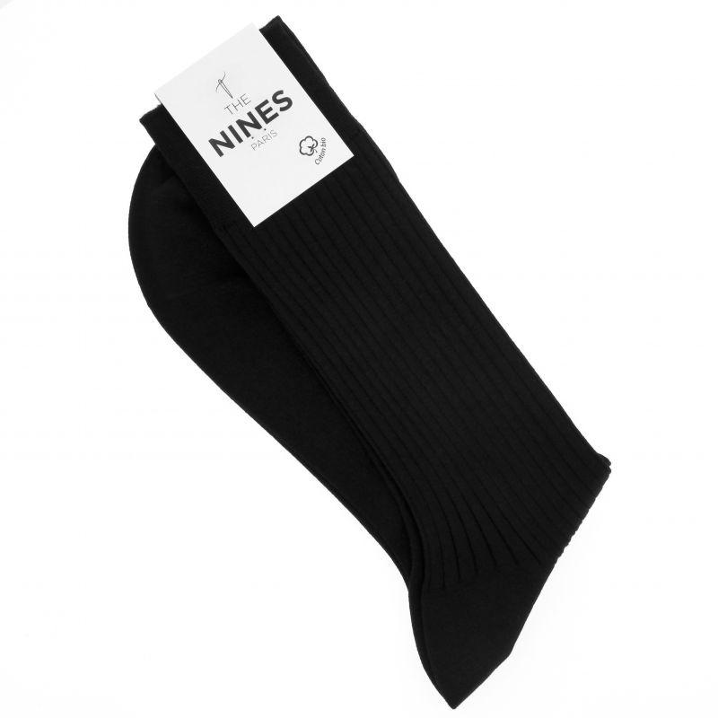 Schwarze Socken aus Bio Nil-Baumwolle
