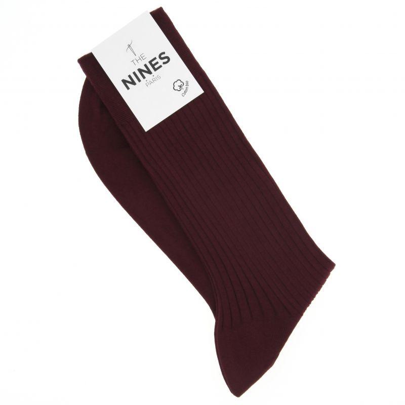 Weinrote Socken aus Bio Nil-Baumwolle
