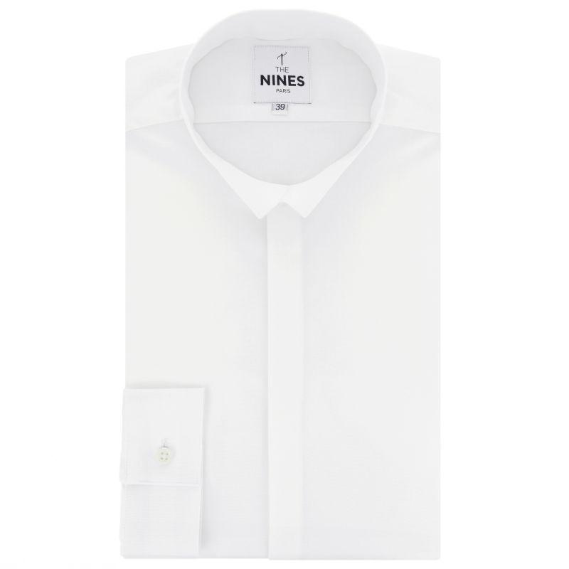 Weisses Biobaumwolle Oxford Hemd mit Umkehrkragen