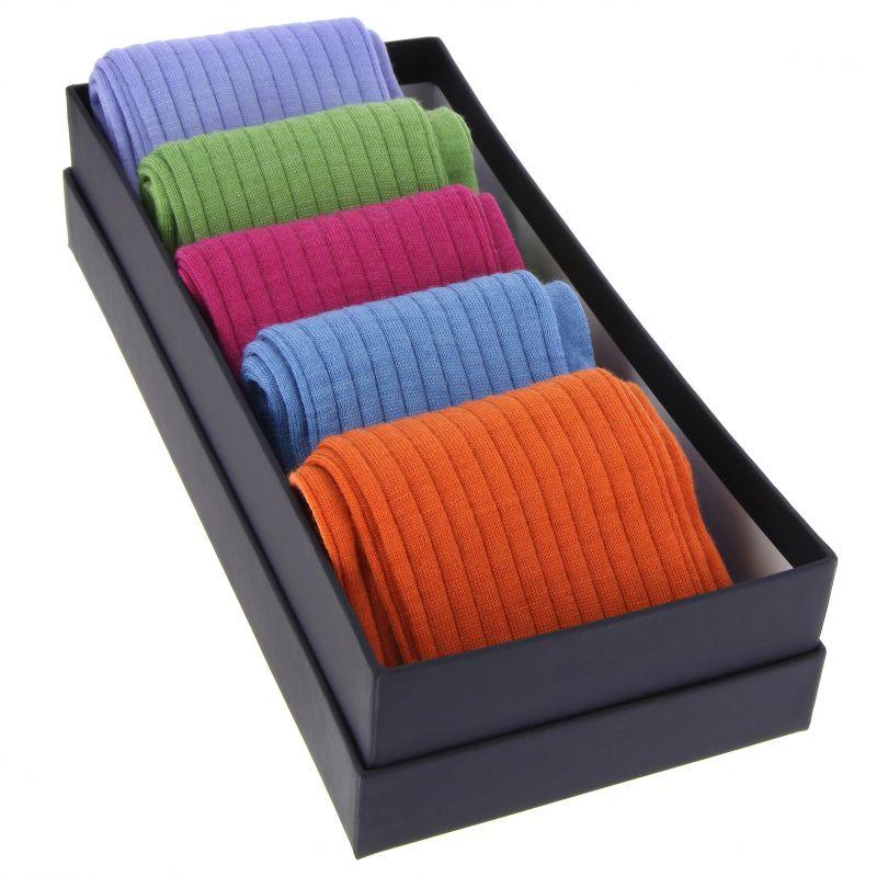 5er Wollsocken Pack, helle Farben