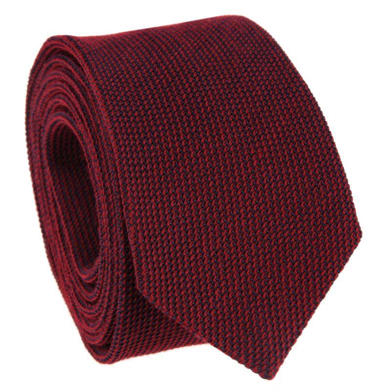 Bordeauxfarbene Krawatte aus Grenadinenseide und Wolle
