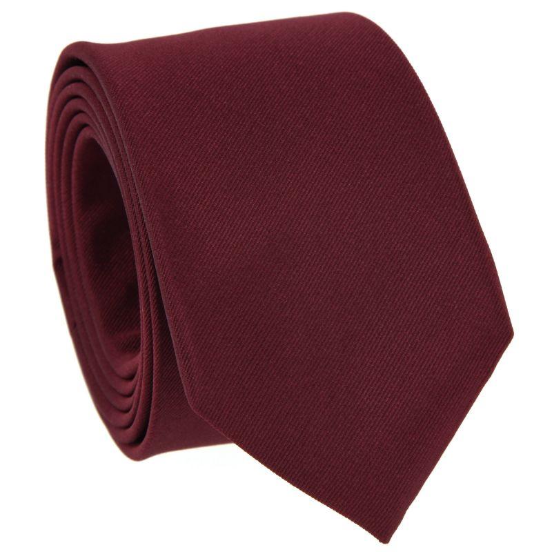 Bordeauxfarbene Krawatte aus Seide - Côme