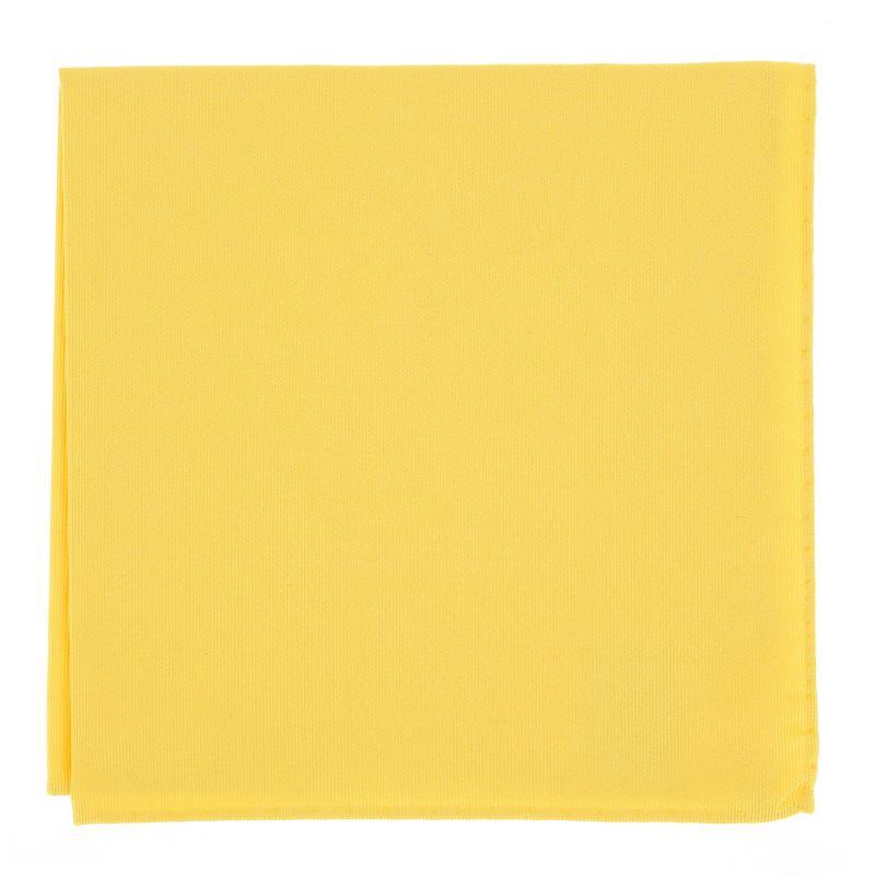 Gelbes Einstecktuch aus Seide - Côme