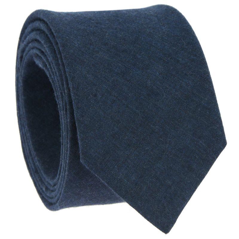 Blaue Krawatte aus Leinen und Baumwolle