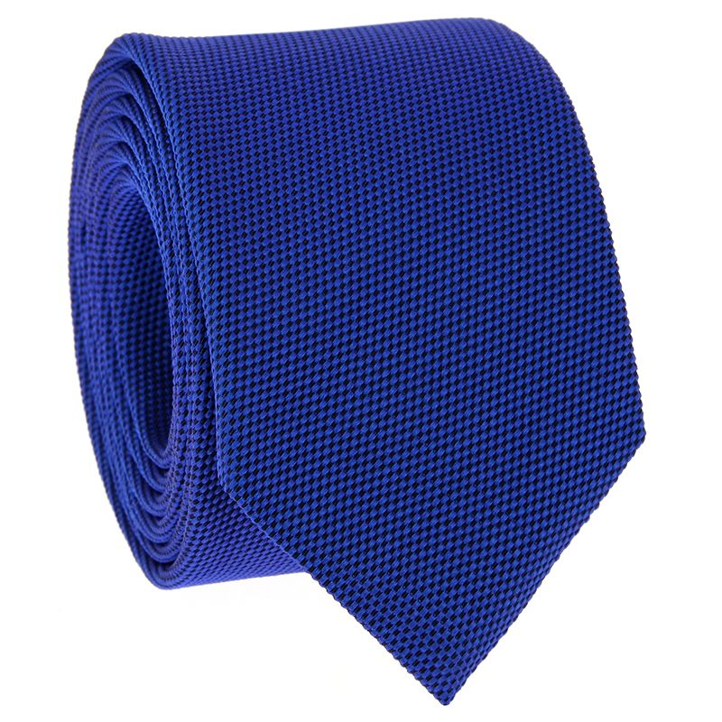 Kobaltblaue Krawatte aus geflochtener Seide