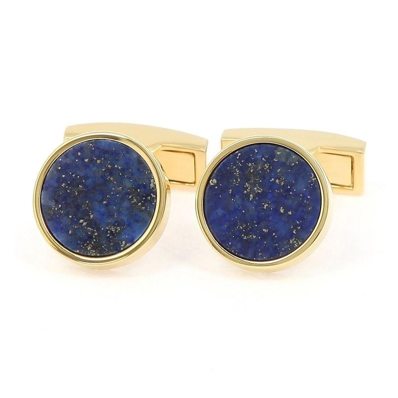 Goldene Manschettenknöpfe mit Lapis-Lazuli - Vienne