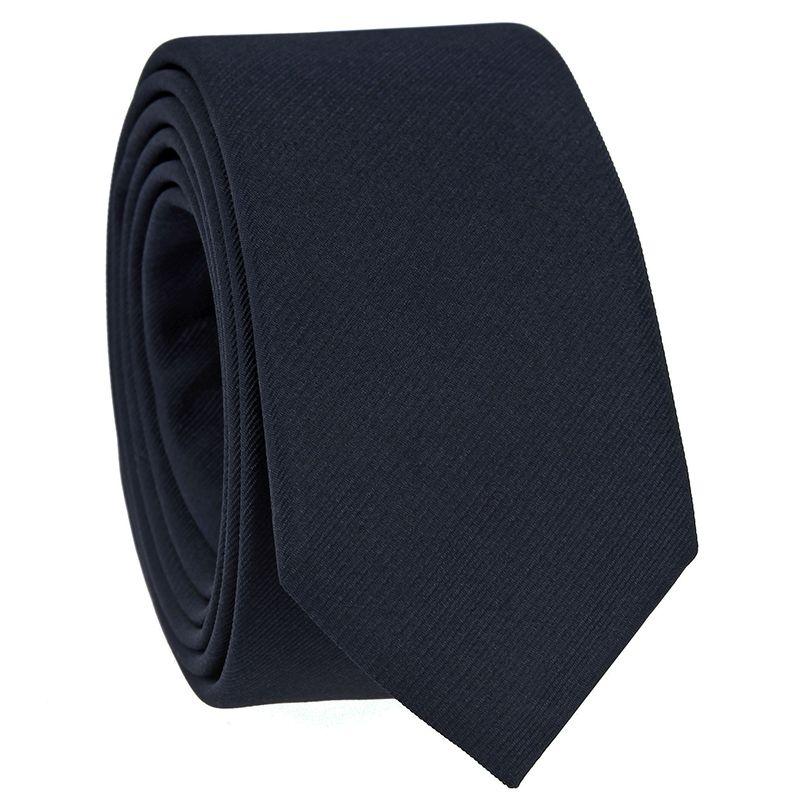 Marineblaue Slim Krawatte Come
