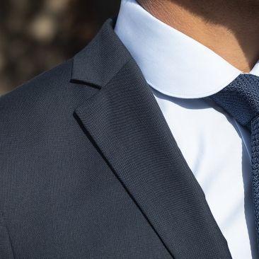 Der 4 Jahreszeiten Anzug - Glencheck Schieferblau