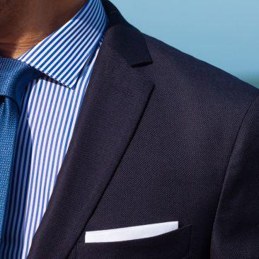 Der 4 Jahreszeiten Anzug - marineblauePanamabindung