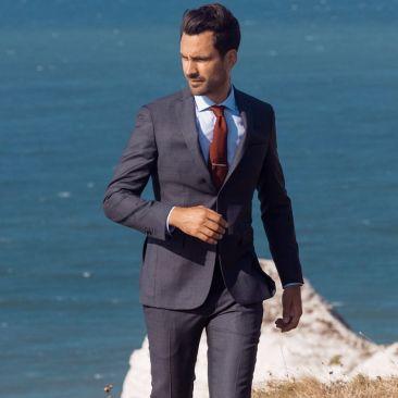 Der 4 Jahreszeiten Anzug - Glencheck Grau