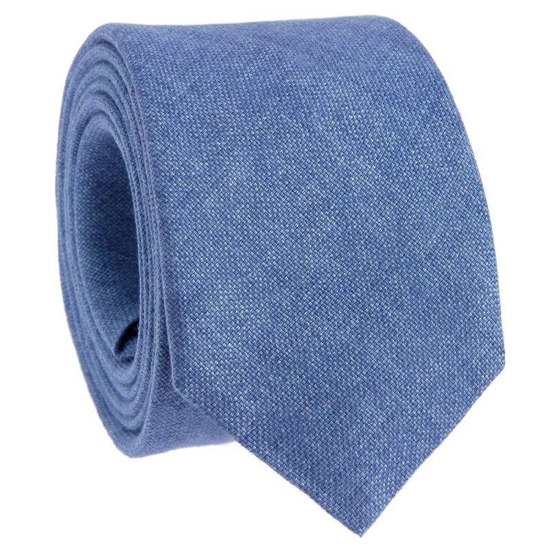 Hellblaue Krawatte aus Leinen