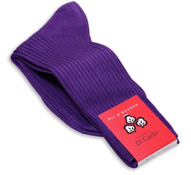 Violette Baumwollsocken von Di Carlo