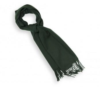 Echarpe unie en cachemire vert cyprès - Swann