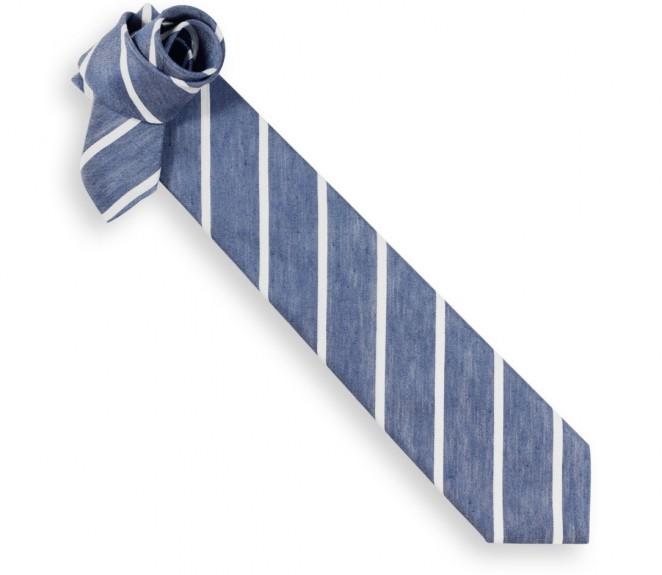 Hackett marineblaue Krawatte mit weissen Streifen