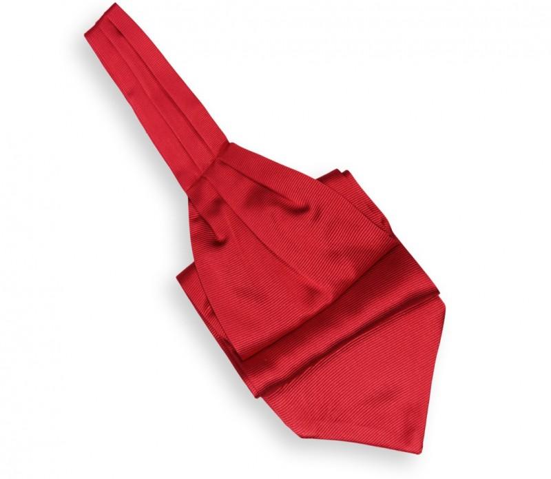 Roter Plastron (Ascotkrawatte) - Ascot III