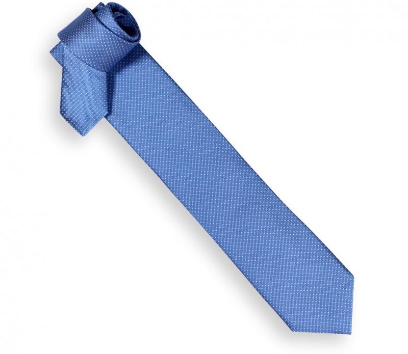 Hackett himmelblaue Krawatte mit kleinen weissen Punkten