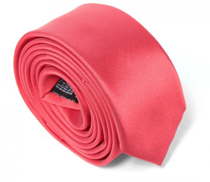 Korallen rosa Slim-Krawatte - Cortenova