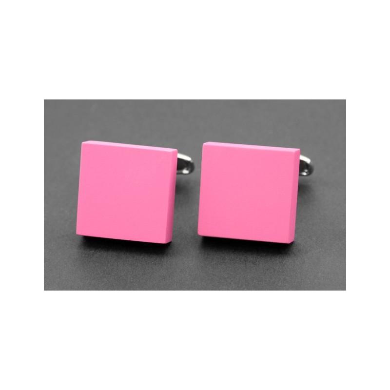 Pinke, quadratische, matte Manschettenknöpfe - Kiruna