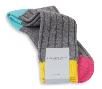 Graue Kaschmirsocken Richard James