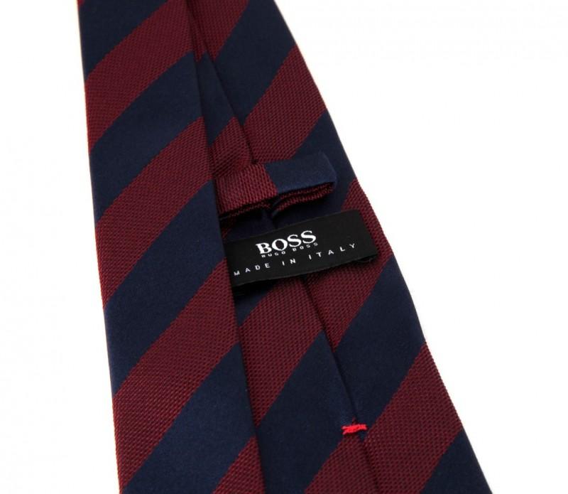hugo boss slim krawatte mit marineblauen und burgundroten. Black Bedroom Furniture Sets. Home Design Ideas