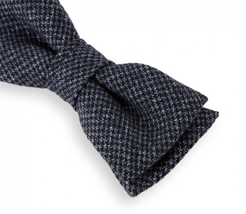 marineblaue hugo boss fliege mit schwarze hahnnentrittmuster das krawattenhaus. Black Bedroom Furniture Sets. Home Design Ideas