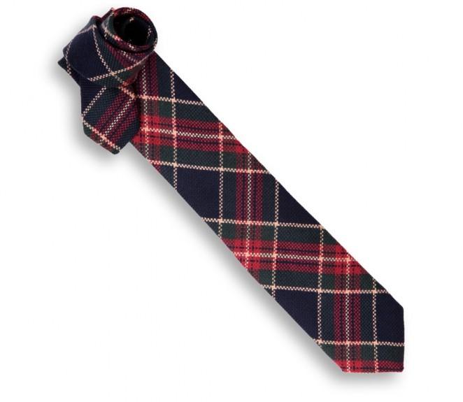 Blaue, rote und grüne Breuer Tartan Krawatte