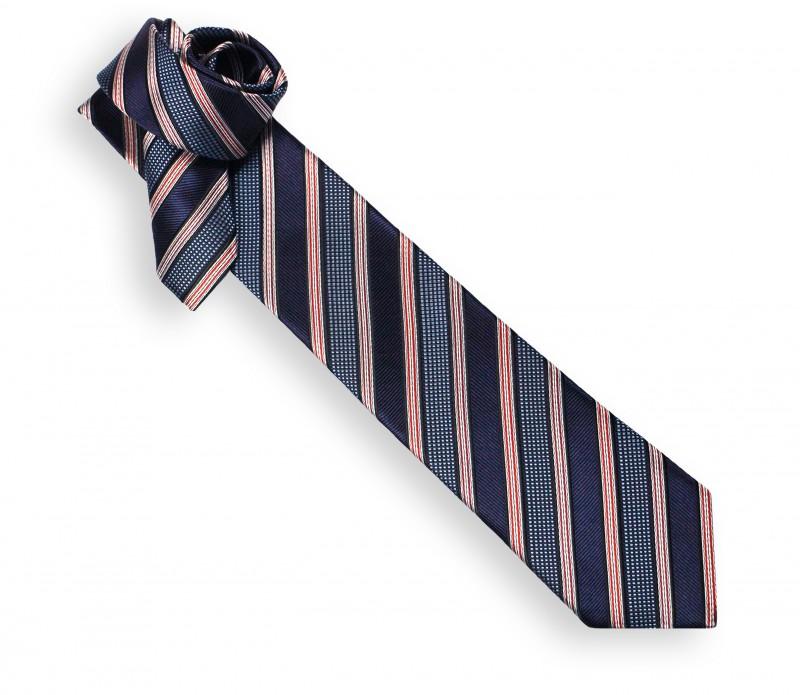 Cravate club marine, ciel et rouge - Philadelphie