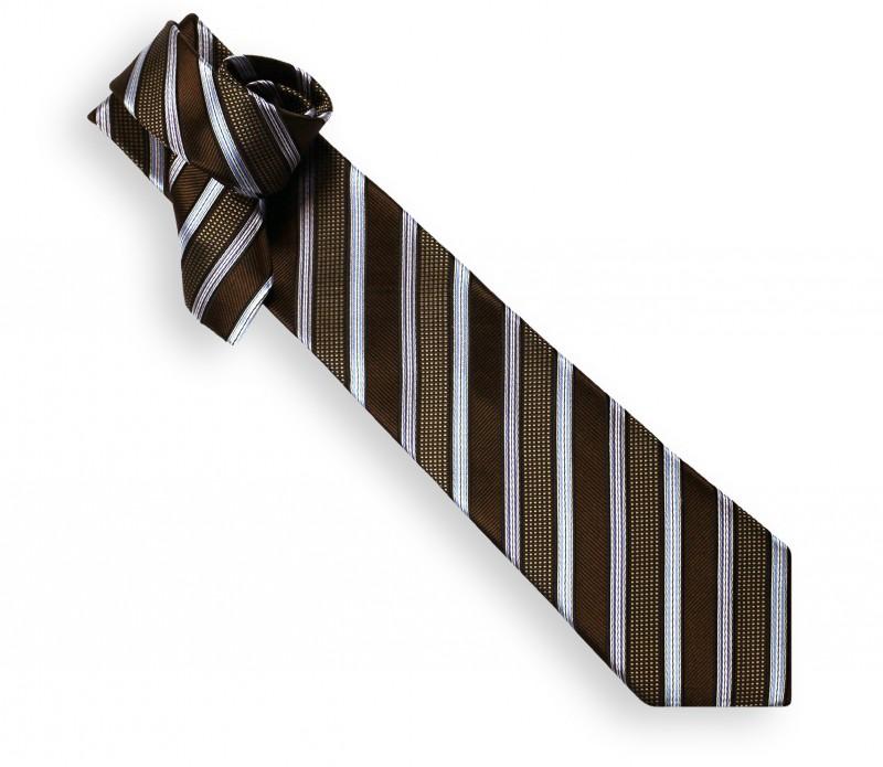 Cravate club chocolat et ciel - Philadelphie
