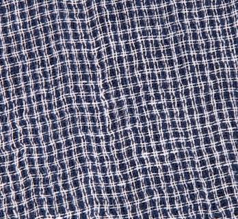 Echarpe en lin à carreaux turquoise, rose et bruns - Yona
