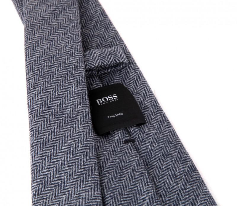 blaue tweed hugo boss krawatte das krawattenhaus. Black Bedroom Furniture Sets. Home Design Ideas