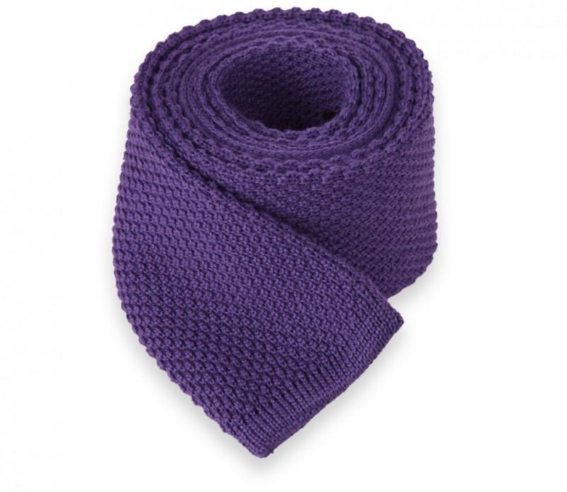 Violette Wollstrickkrawatte - Legnano II