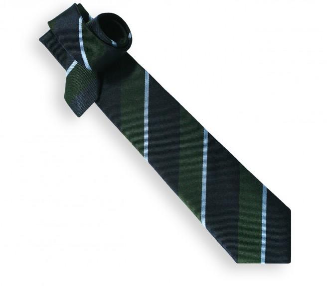 Cravate club marine, verte et bleu ciel - York