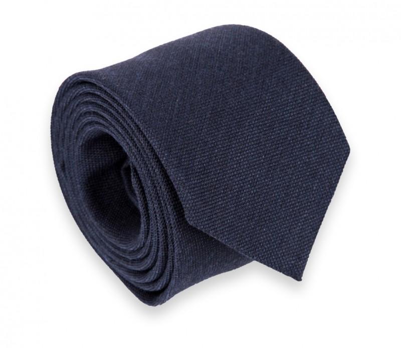 Marineblaue Woll- und Seiden Krawatte - Brisbane II