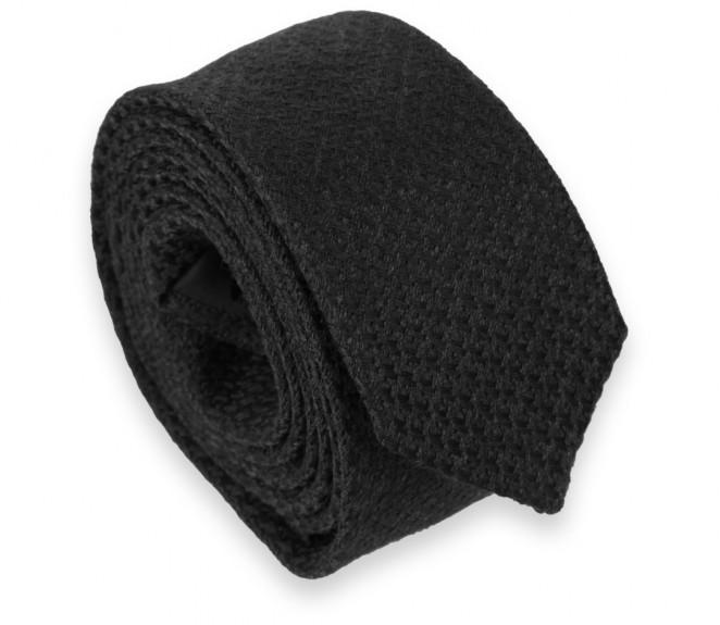 Schwarze Hahnentritt Muster Slim Krawatte - Millport II