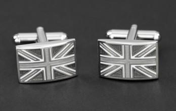 Silberne Union Jack Manschettenknöpfe - Union Jack