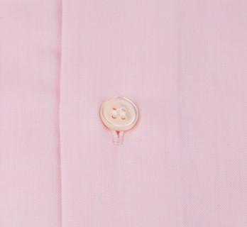 Rosa Fischgr?ten slim-fit Popeline-Hemd mit Umschlagmanschette mit italienischem Kragen