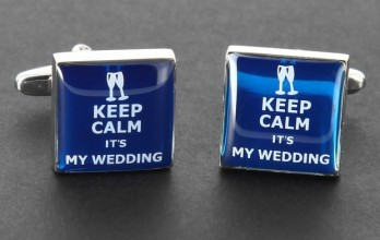 Hochzeits Manschettenknöpfe - Keep Calm it's My Wedding