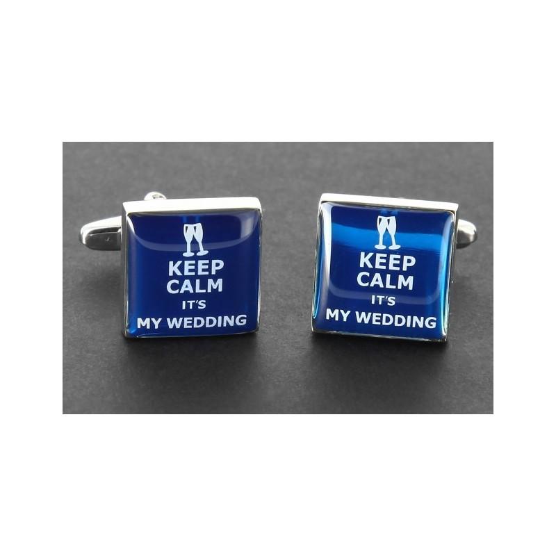 Hochzeits Manschettenknöpfe - Keep Calm it's My Wedding