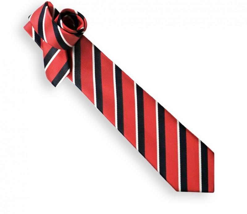 Cravate club rouge et marine - Oxford