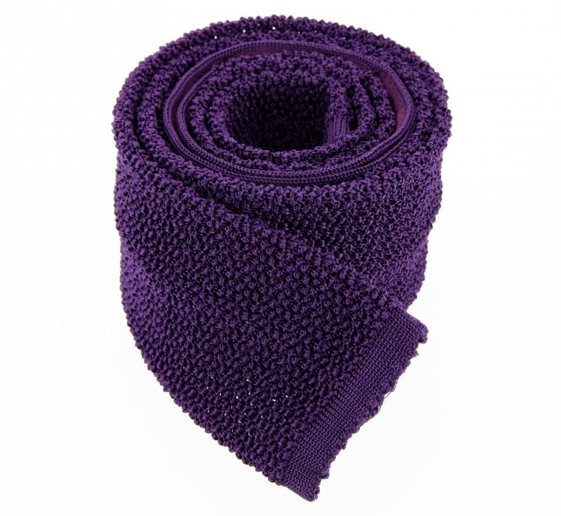 Ascot violette Strickkrawatte