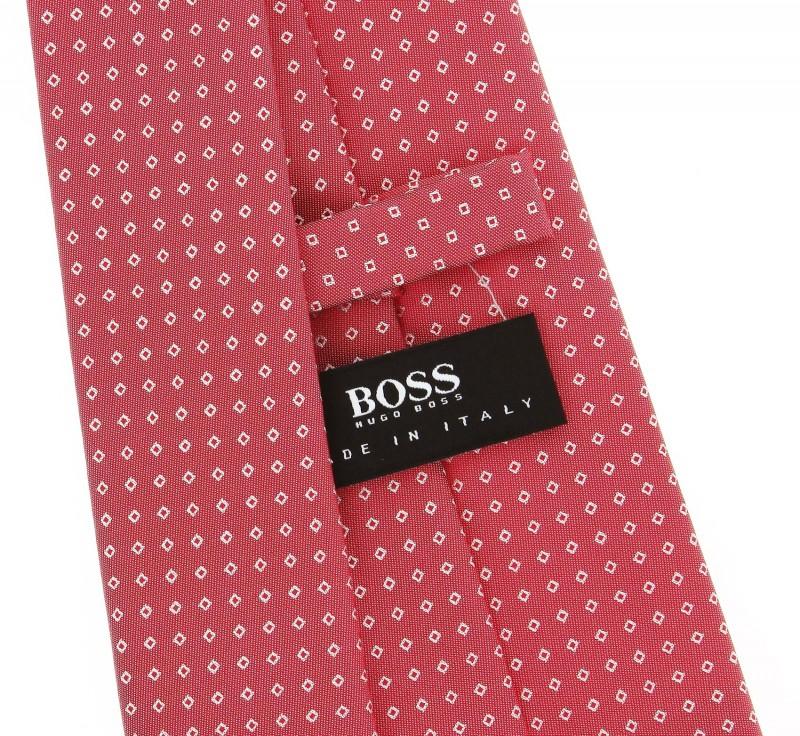 rote hugo boss krawatte mit kariertemotiv das krawattenhaus. Black Bedroom Furniture Sets. Home Design Ideas