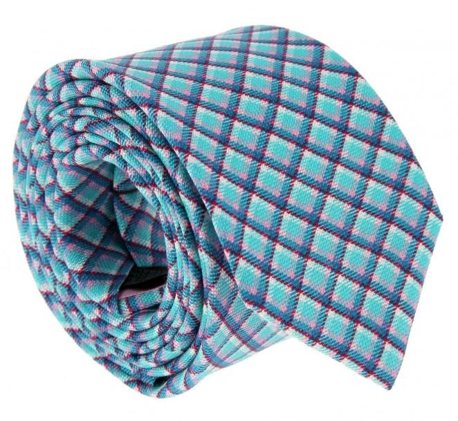 Wassergrüne The Nines-Krawatte im Schottenmuster - Ellon
