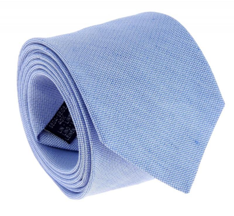 Himmelblaue The Nines leinen und seide-Krawatte - Perugia