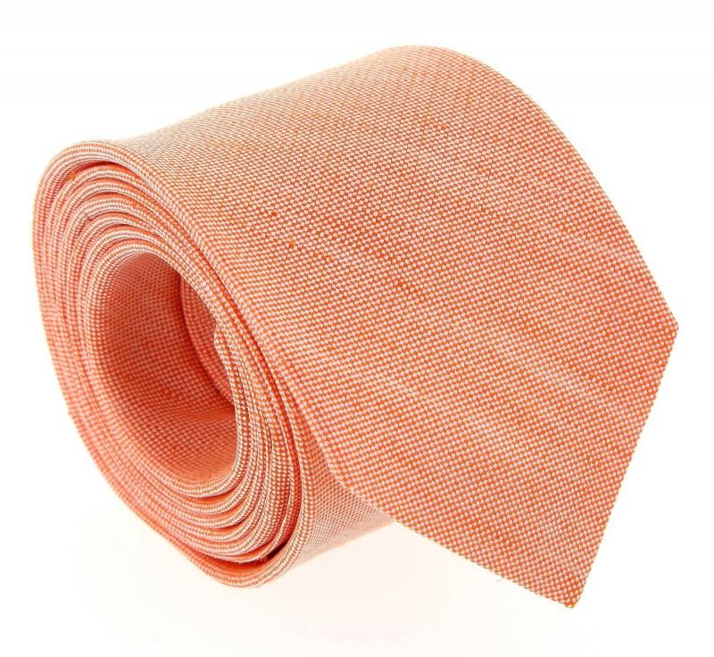 Orange The Nines Leinen und Seide-Krawatte - Perugia