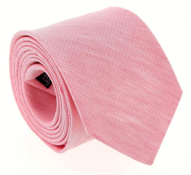 Rosa pastel The Nines leinen und seide-Krawatte - Perugia