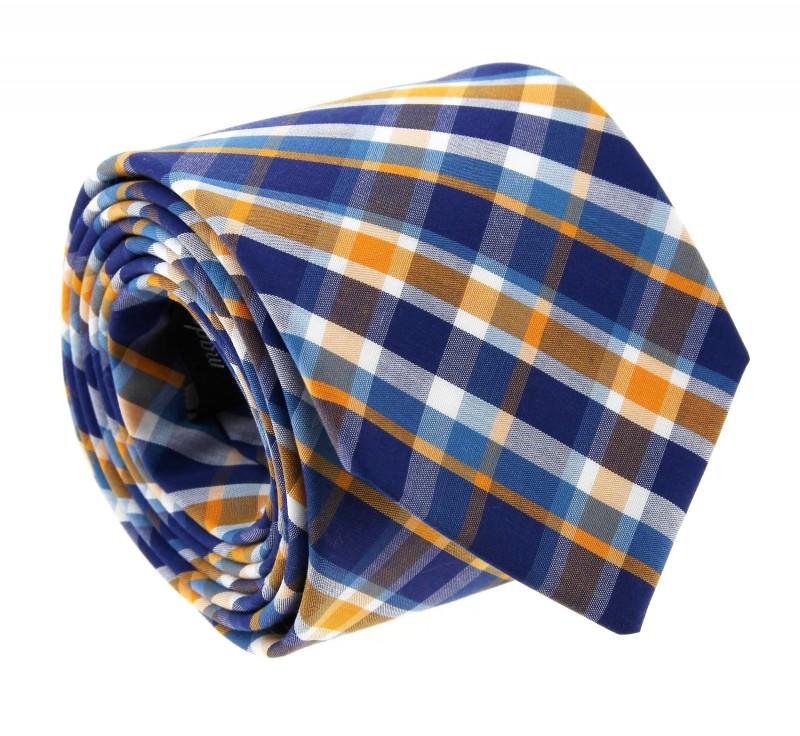 ascot krawatte im blau und gelb schottenmuster das krawattenhaus. Black Bedroom Furniture Sets. Home Design Ideas