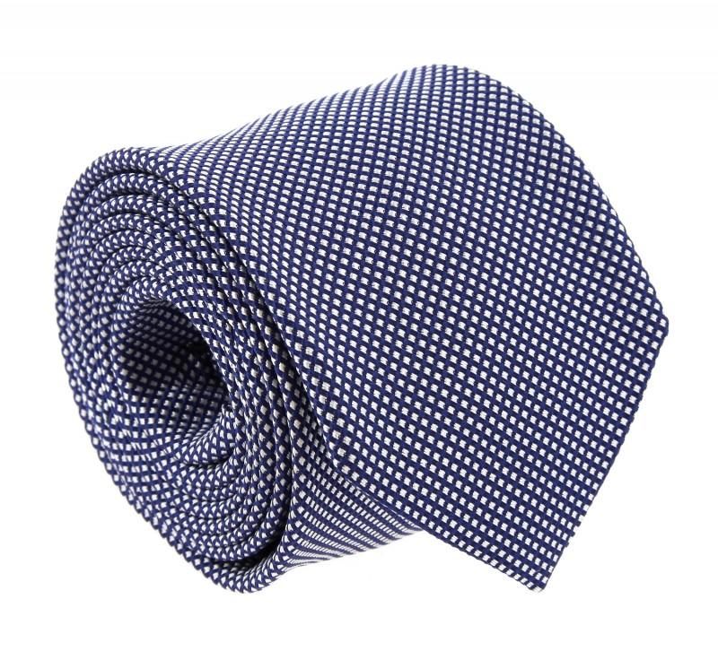 Breuer Marineblaue karierte Krawatte